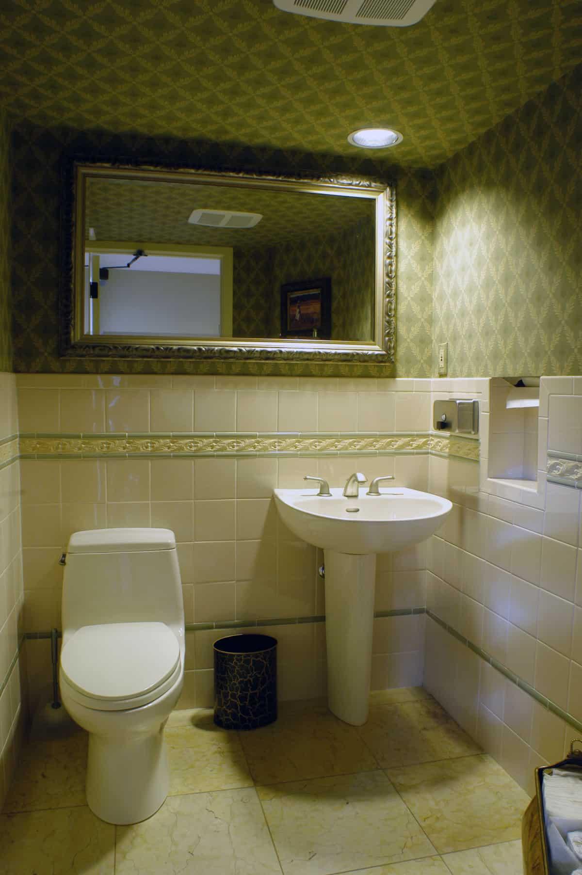 remodeled customer's toilet