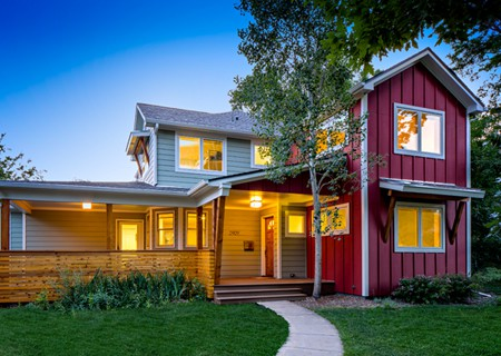 Melton Design Build Boulder Colorado Open Floor Plan Remodel Family Central Red Detail
