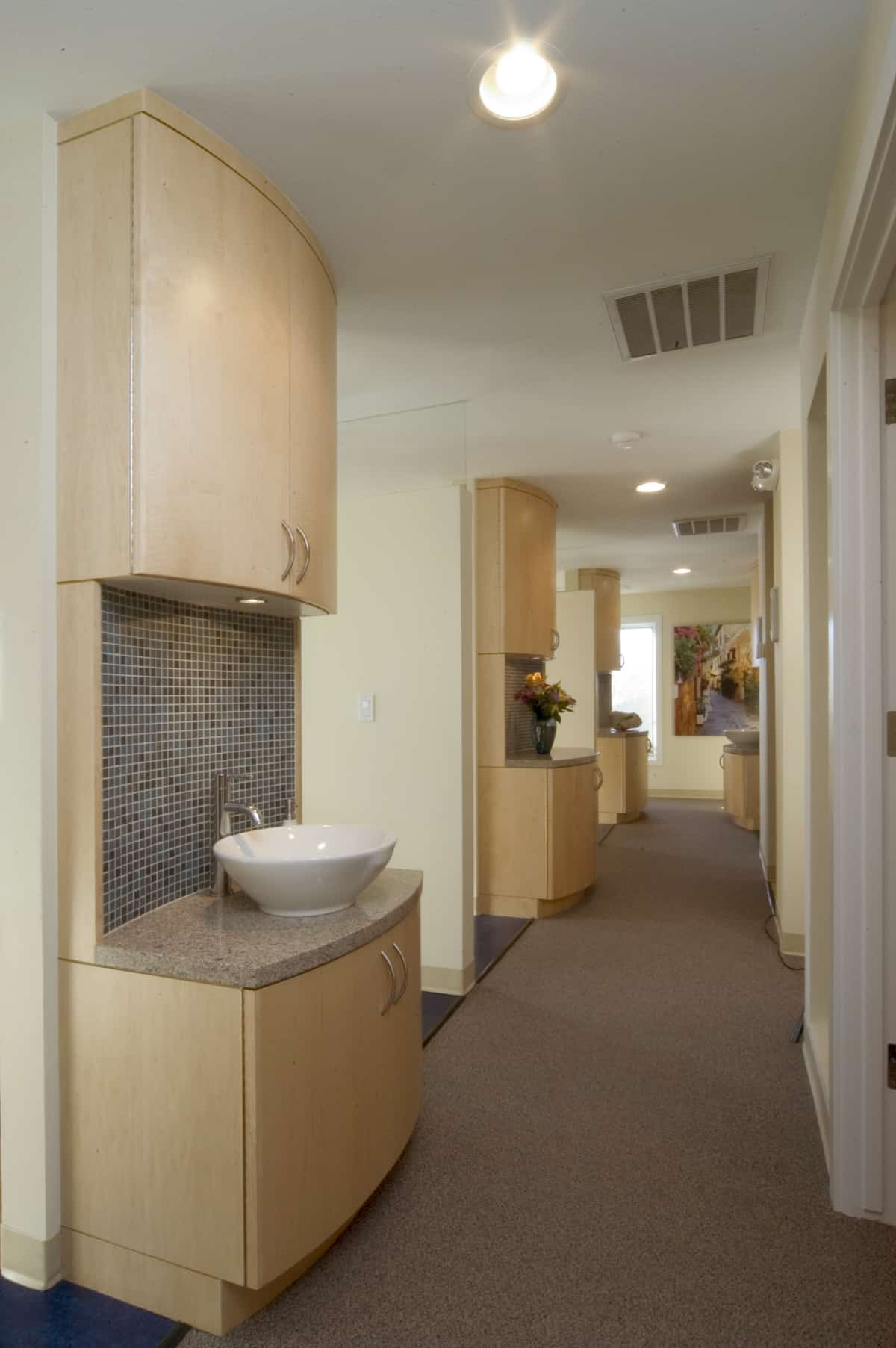stylish hallway with basin