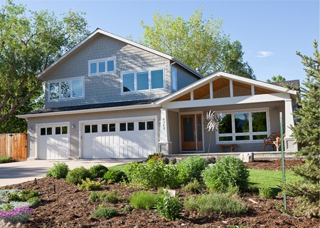 big windows on nice house
