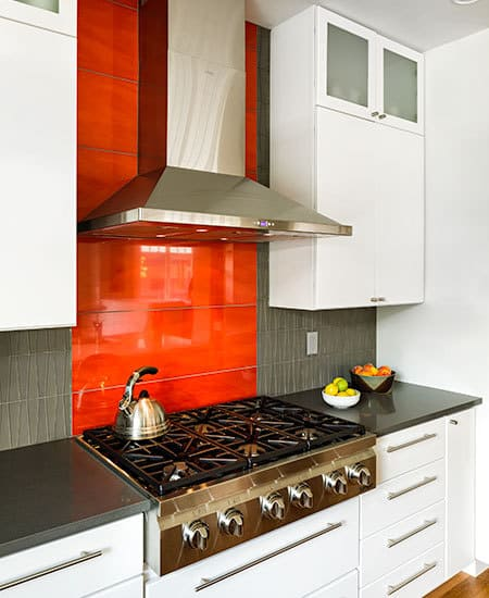modern and colorful stove