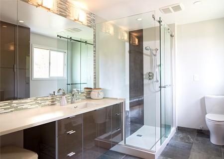 big stylish bathroom