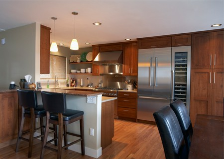 half open kitchen