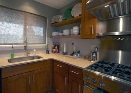 much space in fashionable kitchen