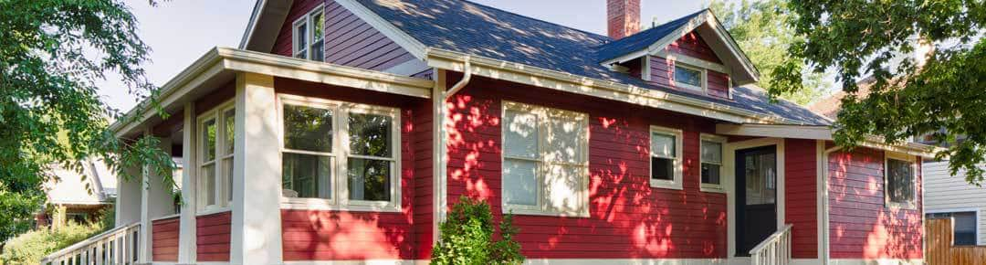 Bright Red Exterior Renovation