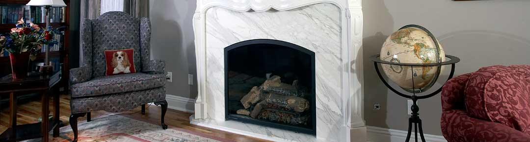 Retro fireplace display