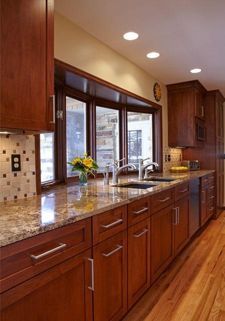 big windows in kitchen