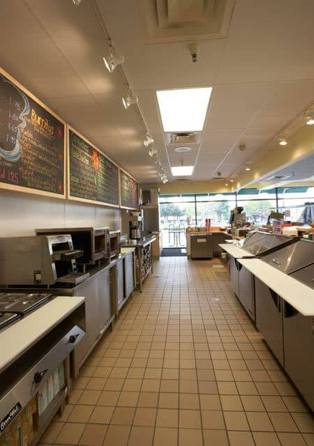 professional kitchen in bagels shop