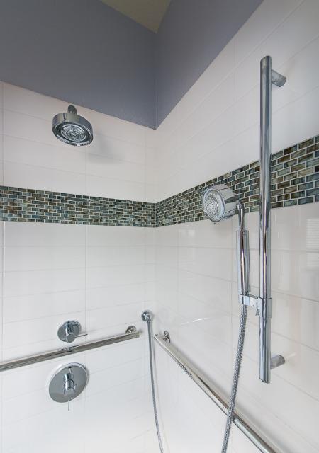two sprinklers in shower