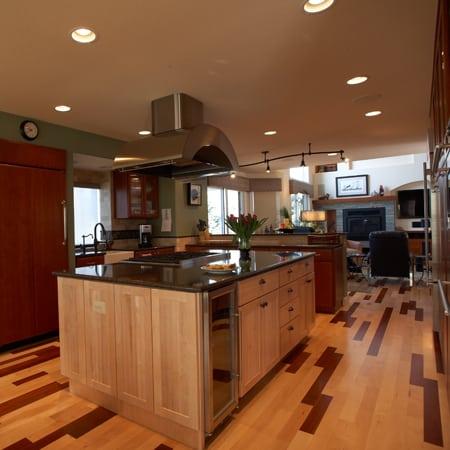 open warm kitchen