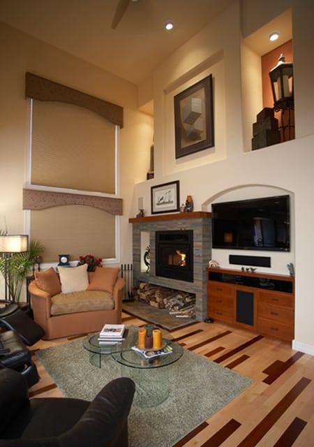 warm living room