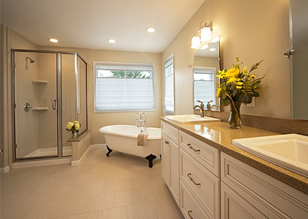 Melton Design Build Boulder Colorado Classic Contemporary Twist Master Bath Traditional Beauty