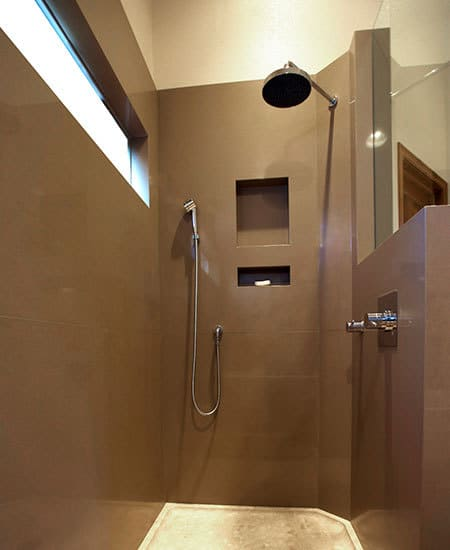 shower as a room