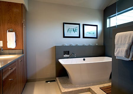 big modern bathtub