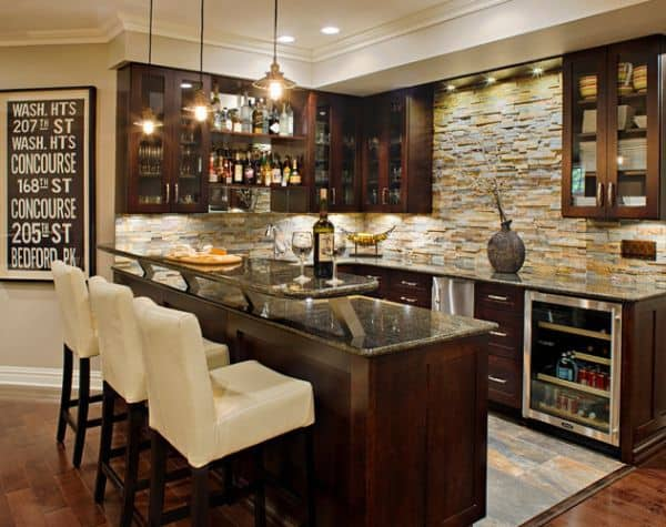 Attractive Basement Bar Remodel