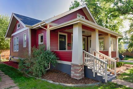 Red home exterior