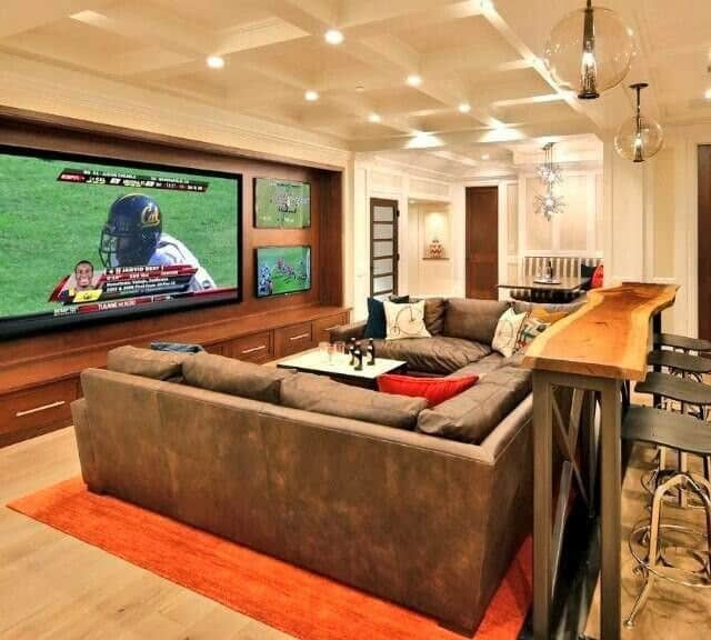 Sport Bar Design Ideas A Look At Sports Bar Stools: 8 Essentials Ideas For Every Man Cave Basement Remodel