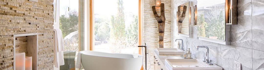 Bright and light classic bath remodel