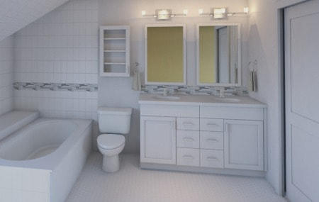 classical white bathroom