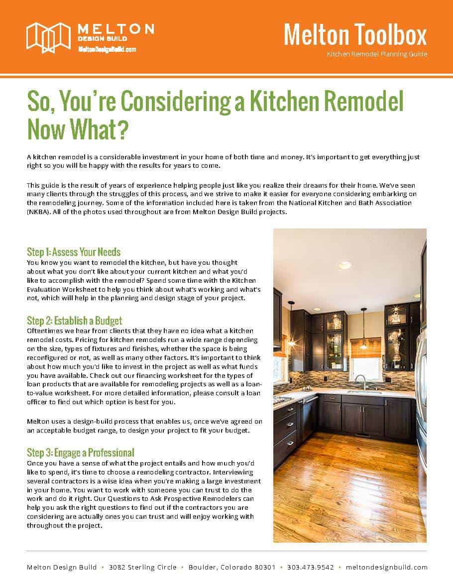 Kitchen Remodel Planning GuideCOVER Melton Design Build - Kitchen remodel planning guide