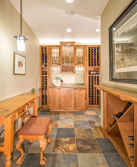 Boulder wine cellar remodel Melton Design Build Boulder Colorado