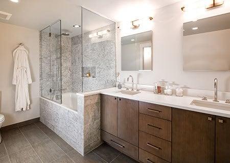 transparent shower