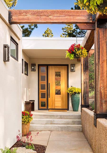 natural house entrance