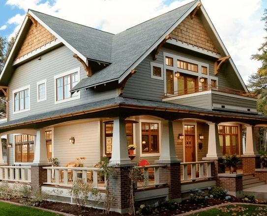 5 big front porch styles melton design build for Wrap around porch columns