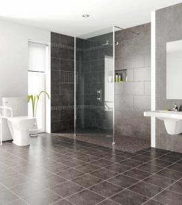 houzz.com- flat entry shower