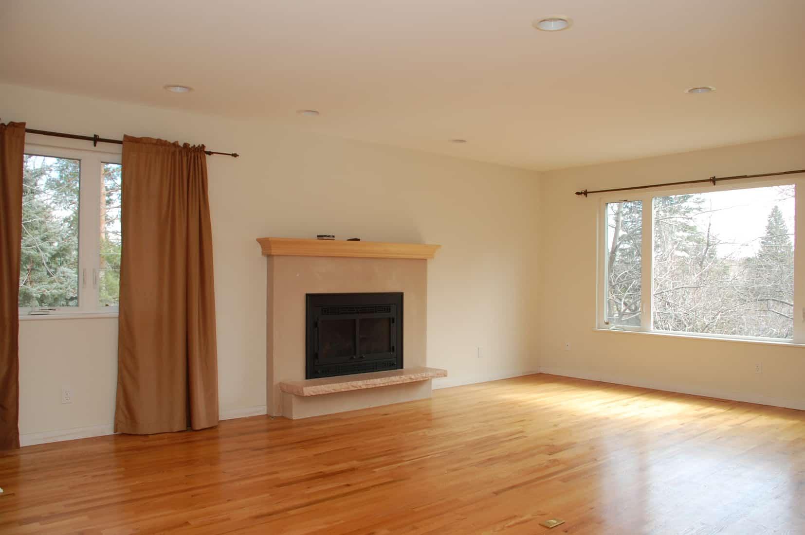 before renovation living room