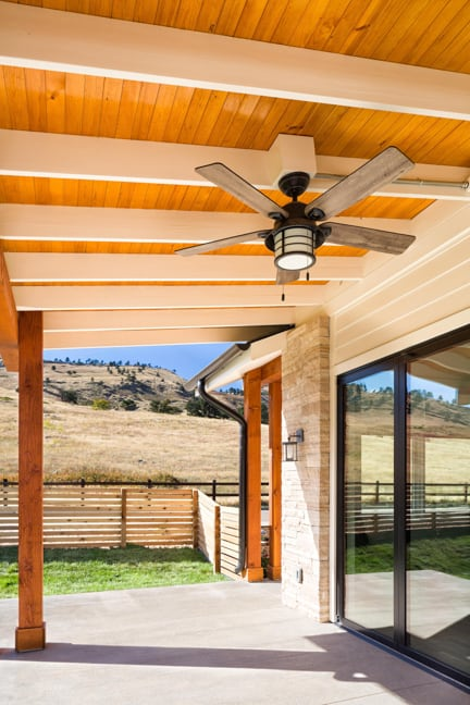 Boulder Custom Home - New Construction - Exterior Deck Feature