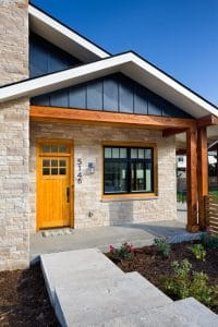Boulder Custom Home - New Construction - Exterior - Front Entrance Feature