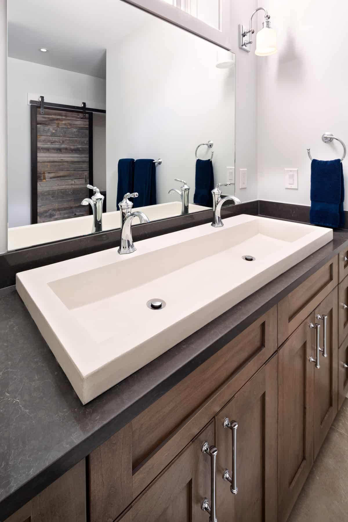 Boulder New Home Build - Training Paradise - Guest Bathroom Trough Sink