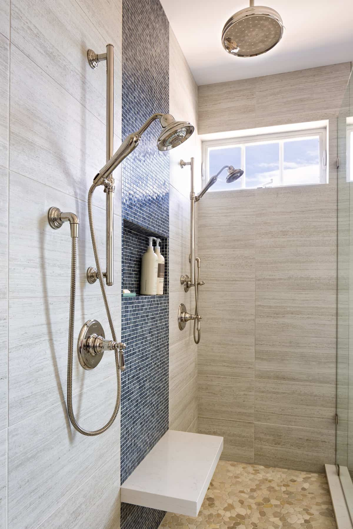 Boulder New Home Build - Training Paradise - Master Bathroom Double Shower
