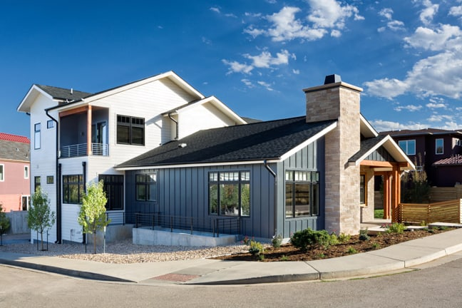 Boulder Custom Home - New Construction - Exterior North Side
