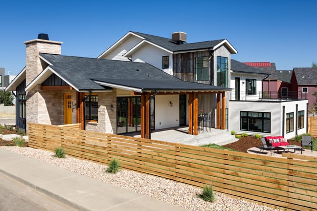 Boulder Custom Home - New Construction - Exterior Side View