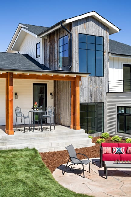 Boulder Custom Home - New Construction - Exterior Patio Vignette