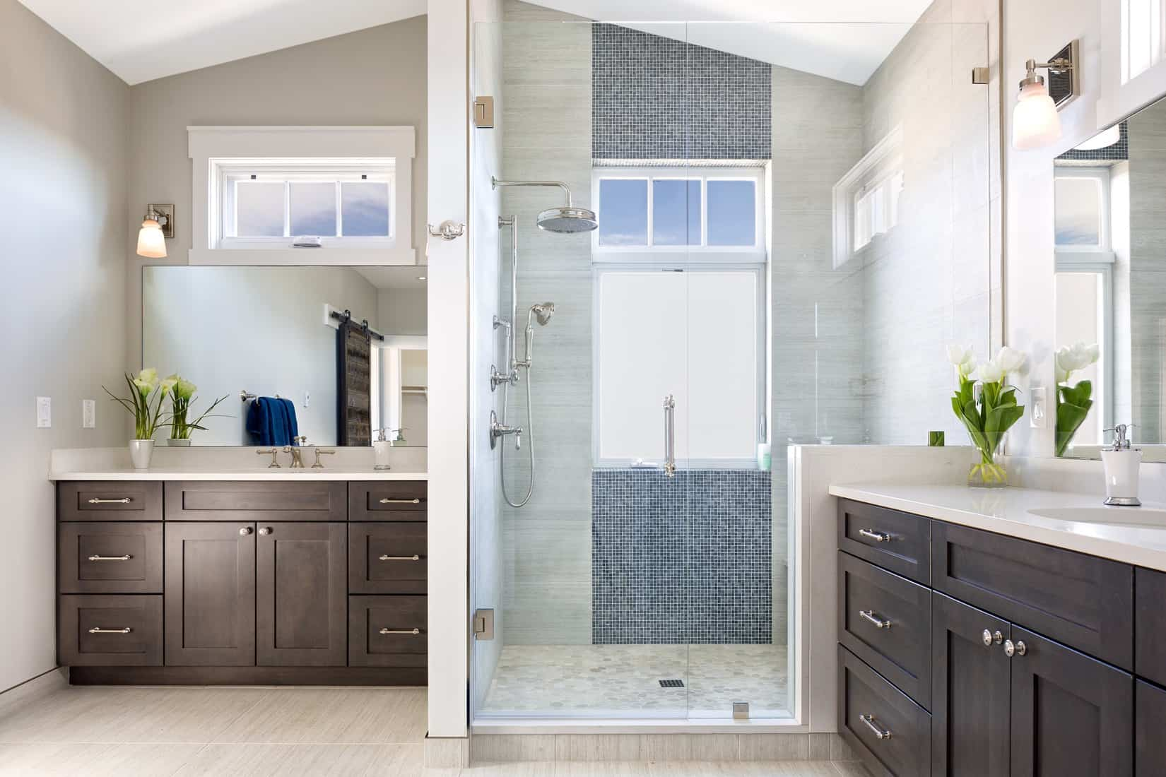 Boulder New Home Build - Training Paradise - Master Bathroom Double Vanity
