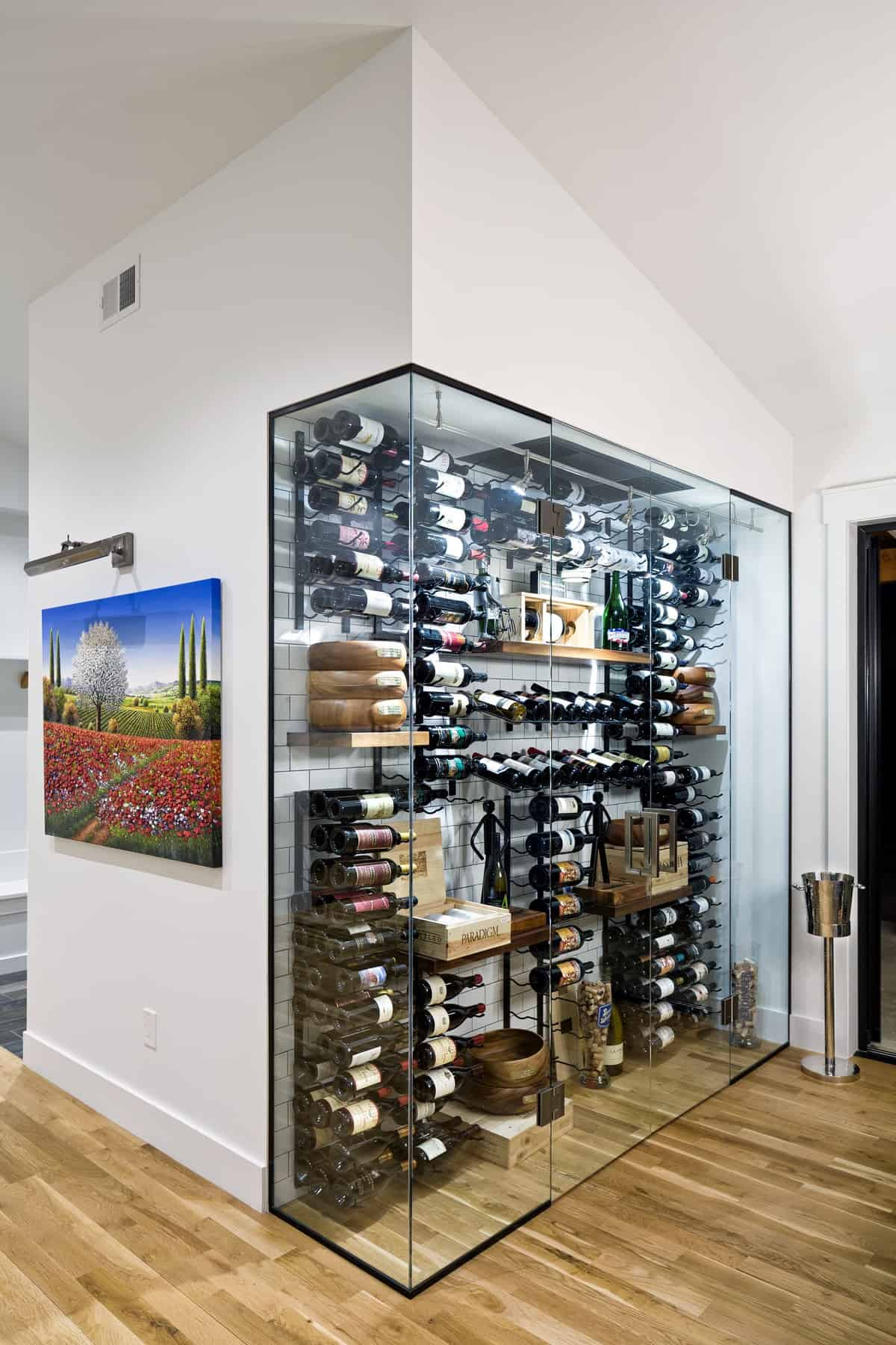 Boulder New Home Build - Training Paradise - Wine Closet Display
