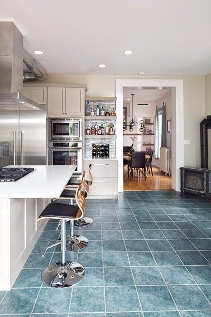 Melton Design Build Remodel - Kitchen to Dining Room Transition