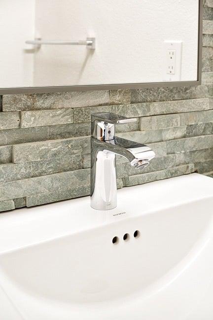 Pine Brook Hills Remodel - Powder Bath Sink Detail