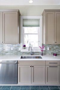 Gray Beige Kitchen Cabinets