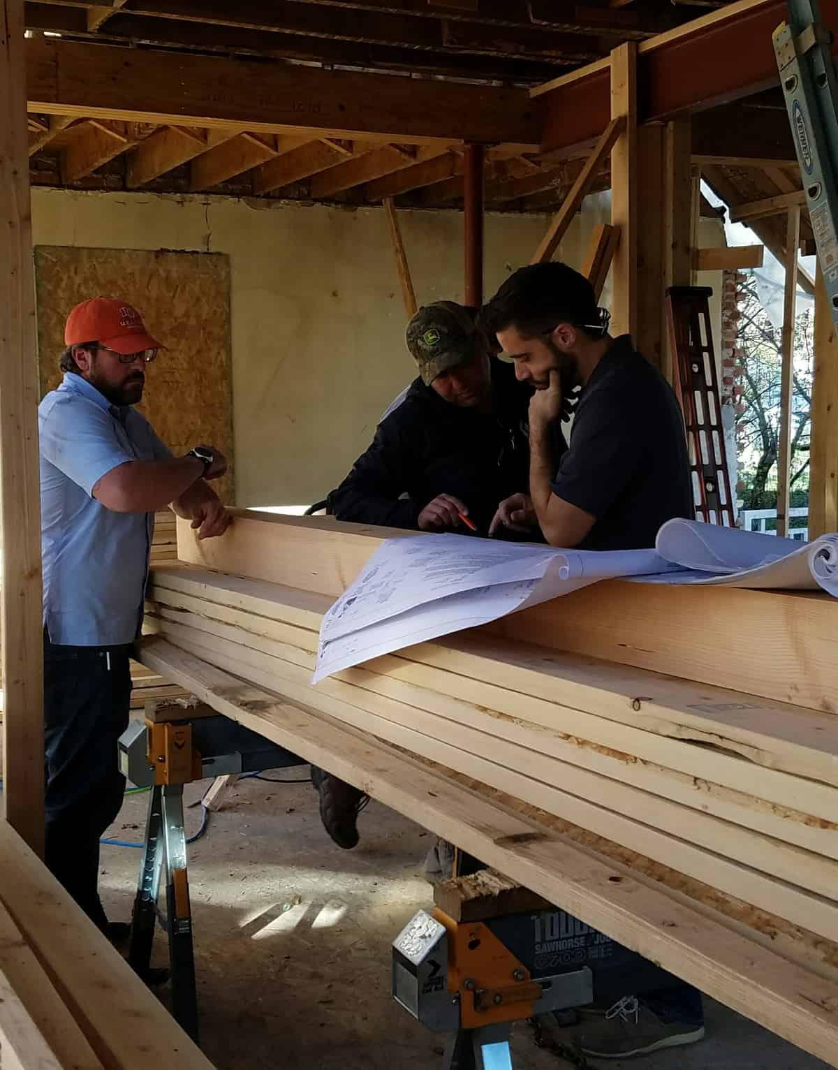 Melton Design Build Team Members Working On Site