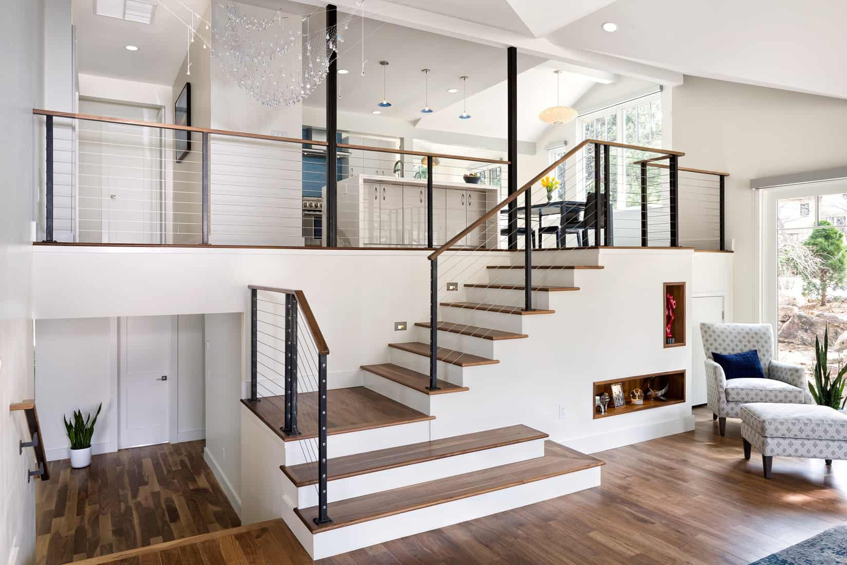 Devil's Thumb Boulder Remodel - Great Room Staircase