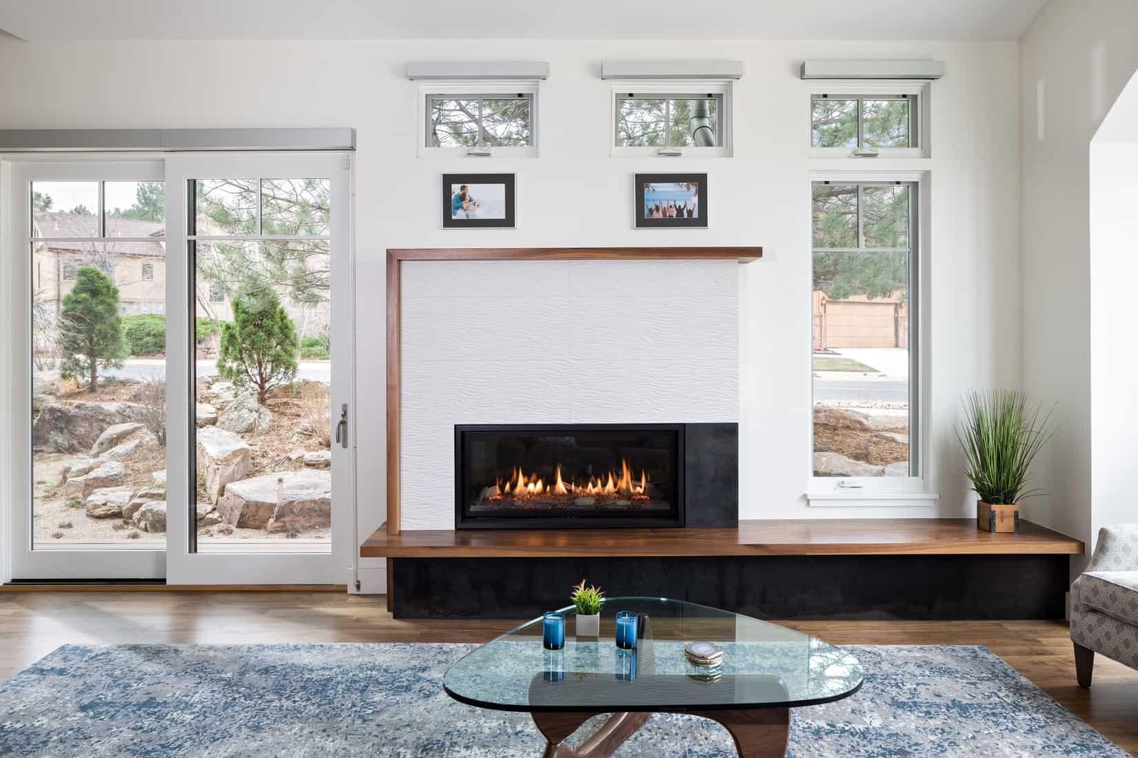 Devil's Thumb Boulder Remodel - Fireplace and Living Room