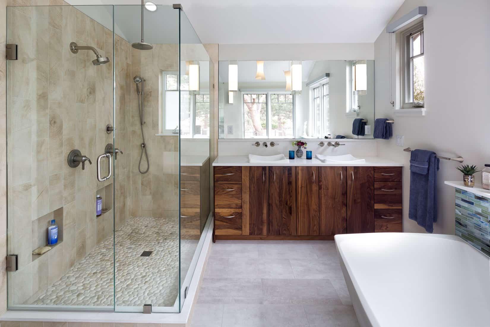 Devil's Thumb Boulder Remodel - Master Bath Vanity and Shower
