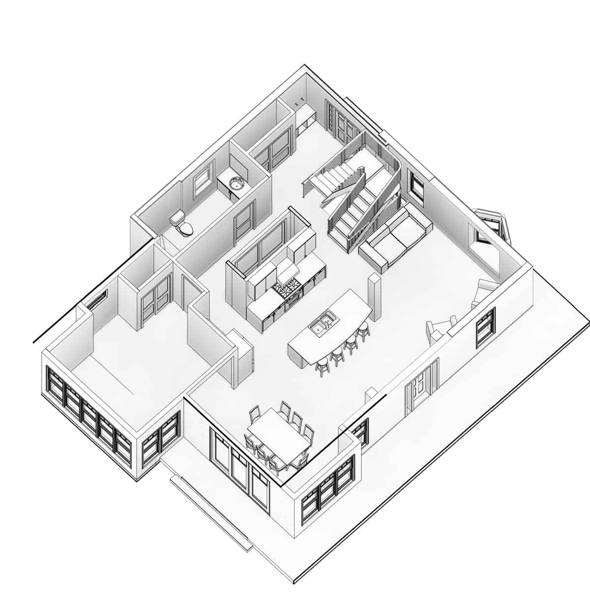 Boulder Historical Home Remodel - Interior Floor Plan