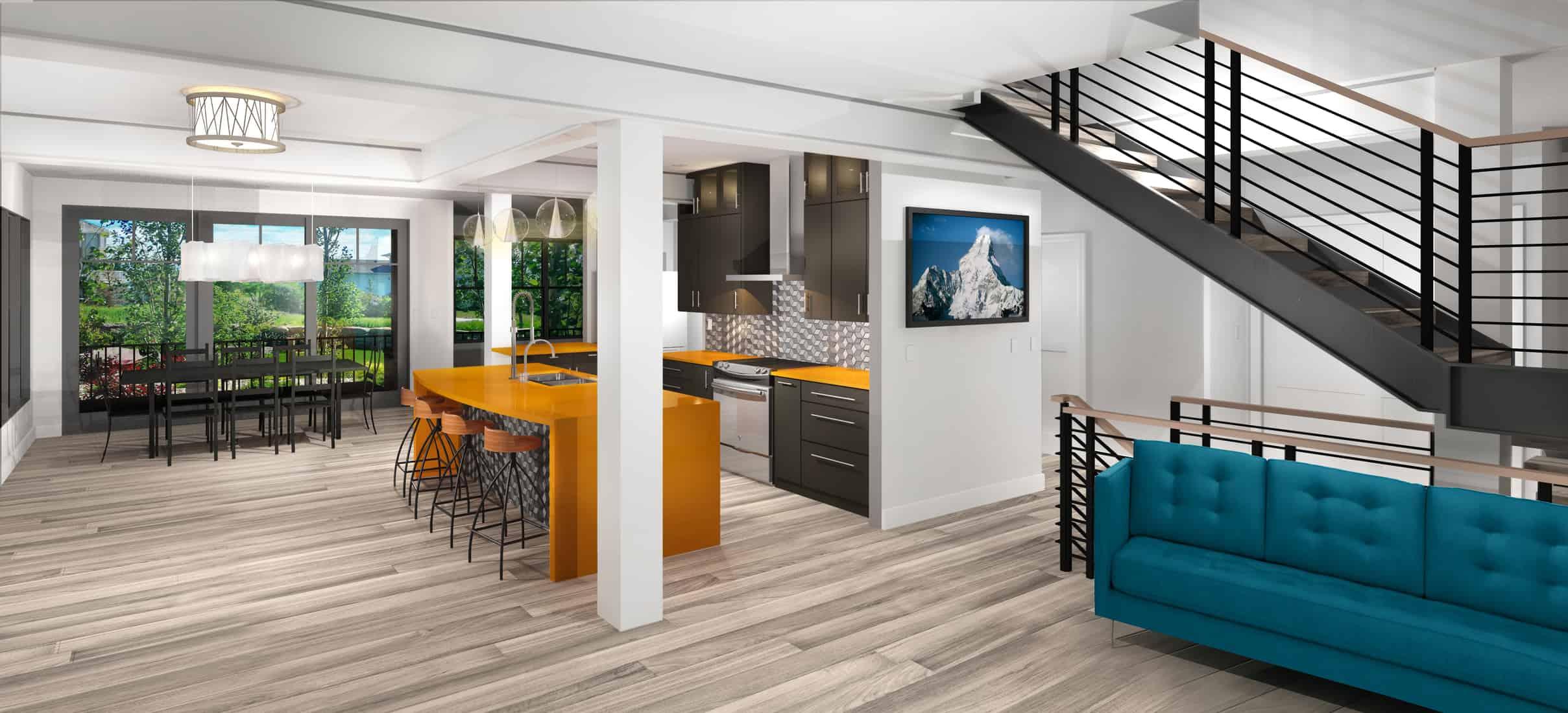 Boulder Historical Home Remodel - Interior Design Rendering