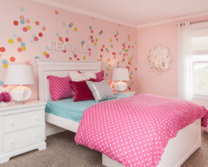 Houzz.com - Niche Interiors - Polka Dots on the Wall and Bedding