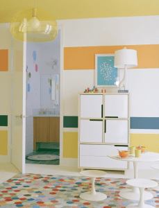 Houzz.com - Striped Kids Room - Orange and Yellow Design